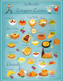 European Cuisine Menu Stock Photography