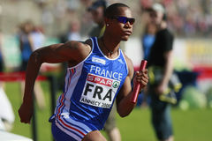 European Cup. Dernier relayeur du 4X400m.Vainqueur France Stock Image