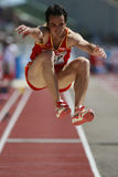 European Cup. Capellan Andres (Esp).Triple Jump Royalty Free Stock Images