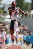 European Cup. Idowu Phillips (GBR).Triple Jump Royalty Free Stock Image