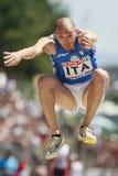 European Cup. Schembri Fabrizio (ITA).triple jump Stock Photos