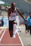 European Cup. Idowu Phillips (GBR).Triple Jump Royalty Free Stock Photo