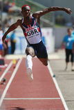 European Cup. Idowu Phillips (GBR).Triple Jump Royalty Free Stock Images