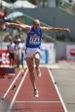 European Cup. Schembri Fabrizio (ITA).triple jump Royalty Free Stock Photography