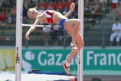 European Cup. Shkolina Svetlana (RUS).High Jump Royalty Free Stock Photo