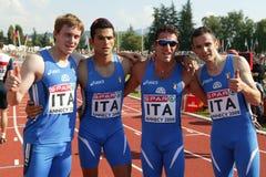 European Cup. Italian 4X400 m Royalty Free Stock Photos