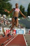 European Cup. Johnson Jade (GBR).Long Jump Stock Photography