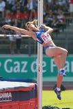 European Cup. Di martino Antonietta (ITA).High Jump Stock Image