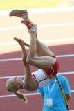 European Cup. Rogowska Anna (POL).Pole Vault Stock Photo