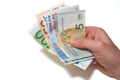 European Currency. European Bank notes, Euro  currency from Europe, Euros Royalty Free Stock Photography