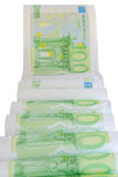 European currency bank notes printed on toilet paper Stock Images