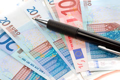 European currency banknotes Stock Images