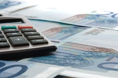 European currency banknotes Royalty Free Stock Photo