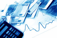 European currency banknotes Royalty Free Stock Photography