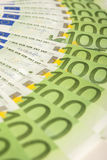 European Currency Banknotes Placed Circular Stock Images