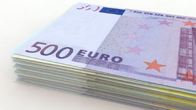 European currency counting stock video