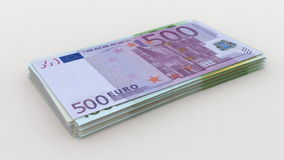 European currency counting stock footage