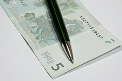 European currency, the euro Royalty Free Stock Photography