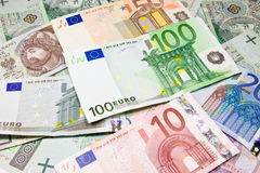 European currency Euro - banknote Stock Photo