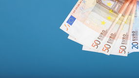 European currency euro banknotes Royalty Free Stock Photography