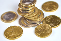 European Currency. Euro Coins Royalty Free Stock Images
