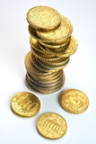 European Currency. Euro Coins Stock Photo