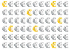 European Currency - euro money gold and silver Stock Image