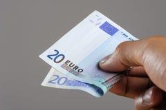 Euro bank notes. European currency money, euro bank notes, financial concept Royalty Free Stock Photography
