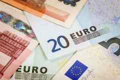 Euro bank notes. European currency money, euro bank notes, financial concept Royalty Free Stock Image
