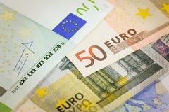 Euro bank notes. European currency money, euro bank notes, financial concept Royalty Free Stock Photos