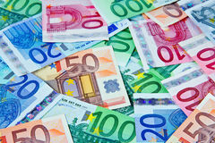 European currency notes in euros. European currency banknotes in euros Stock Photography