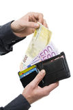 European currency payment Royalty Free Stock Photos