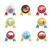 European Day of Languages. Badges and flags A Stock Photography