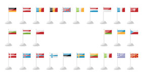 European Day of Languages. Flags A Royalty Free Stock Photos