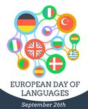 European Day of Languages. Greeting card - European Day of Languages, september Royalty Free Stock Photos