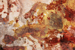European decay. Decadent grunge plaster of dirty painted wall with drawn map of europe - old continent in decline Royalty Free Stock Photo
