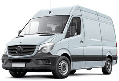European delivery van Stock Photos