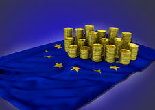 European economy concept with national flag and Stock Photo