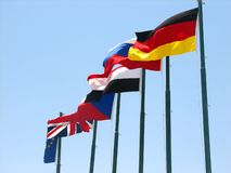 European and egypt  flags Stock Image