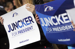 European Election Campain EPP Juncker Stock Photo
