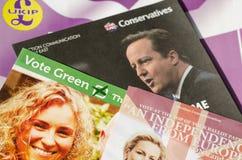 European Election Leaflets Stock Photo