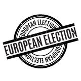 European Election rubber stamp Royalty Free Stock Photo