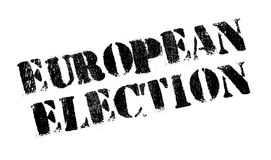 European Election rubber stamp Royalty Free Stock Photos