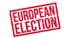 European election rubber stamp Royalty Free Stock Image