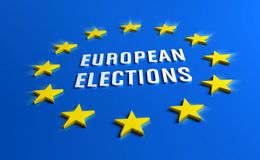 European elections banner stock illustration
