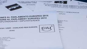 EUROPEAN ELECTIONS 2014 Royalty Free Stock Photo