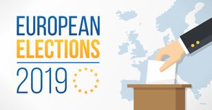 European Elections 2019 royalty free illustration
