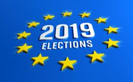 European elections 2019 vector illustration