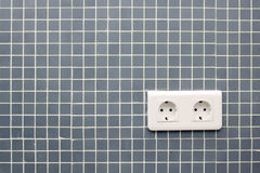 European Electric Plug Stock Photo