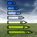European energy rating certificate royalty free stock photography